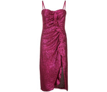 sequinned ruffle detail dress