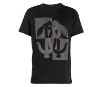 T-Shirt mit Nieten-Logo