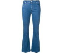 Skinny-Jeans mit Schlag