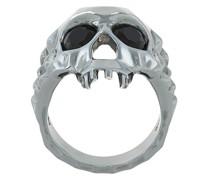 'Vampire Skull' Ring aus Sterlingsilber