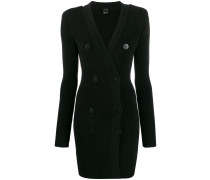 button-front knitted dress