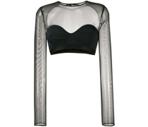 Semi-transparentes Cropped-Top