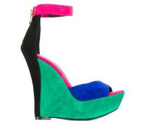 Wedge-Sandalen in Colour-Block-Optik