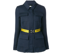 Oversized-Jacke mit Gürtel