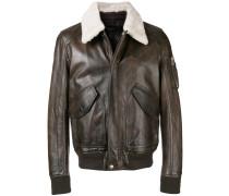 contrast-collar biker jacket
