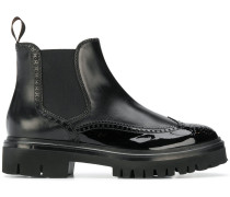 perforated derby style boots