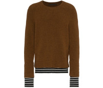 Pullover mit gestreiftem Saum