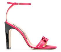 double bow strap sandals