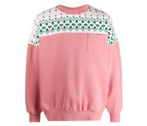 Sweatshirt mit Kontrasteinsatz