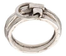linked carved ring set