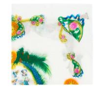 Schal mit exotischem Print