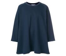 oversized rear printed sweatshirt