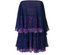 tiered sequined sleeveless dress