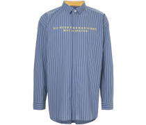Bad Vibes embroidered striped shirt