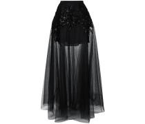 embellished sheer maxi skirt