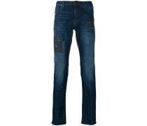 Bootcut-Jeans mit ausgeblichenem Effekt