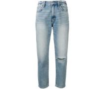 Ausgeblichene Cropped-Jeans