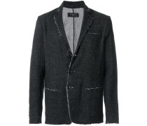 raw edge asymmetrical blazer