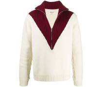 FRANCKY WONY SHOW PULL COL MONTANT ZIP MULTICOLORE