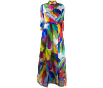 'Elena' Kleid mit Federn