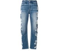 Cropped-Jeans in Distressed-Optik