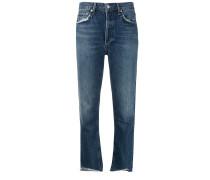Ungesäumte Cropped-Jeans