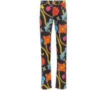 Jeans mit Schmuck-Print