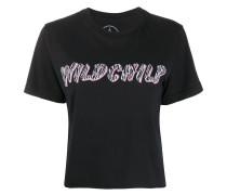 Cropped-T-Shirt mit Print