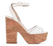 Sandalen mit Korkabsatz