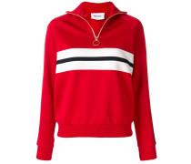striped zipped sweatshirt