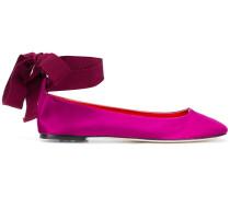 ankle tie ballerina pumps