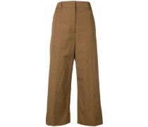 cropped woven trousers