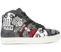 Nobody's Safe graphic high top sneakers