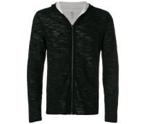 slim fit zip front hoodie