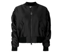 Logomania gem embellished bomber jacket