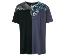 T-Shirt mit Kontrasteinsatz