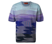 shaded striped T-shirt