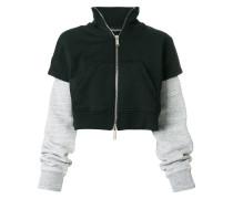 Cropped-Sweatshirtjacke