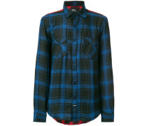 colour block plaid shirt