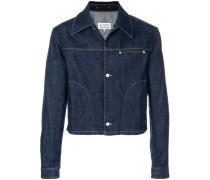 Jeansjacke mit schmaler Passform