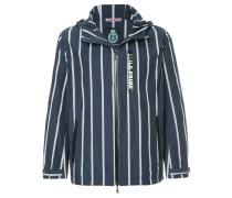 striped lightweight jacket