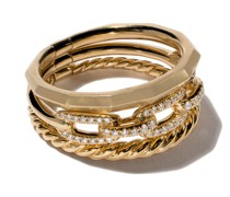 18kt 'Stax' Gelbgoldring mit Diamanten