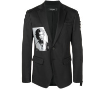 photographic print blazer
