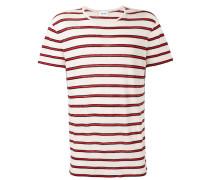 Leinen-T-Shirt mit Breton-Streifen