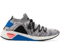 low top knit upper sneakers