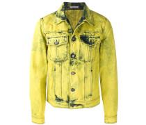 Ausgewaschene Jeansjacke