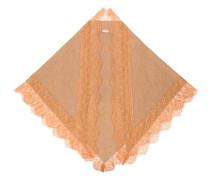 Schal mit Spitzenbesatz