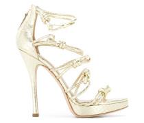 Stiletto-Sandalen mit Knotendetails