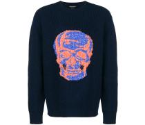 Wollpullover mit Totenkopf-Motiv