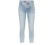 Jeans mit Wellenmuster